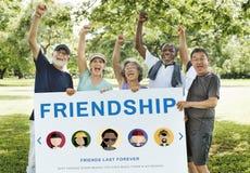 友谊统一性关系变化人概念 库存图片