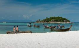 双人游人,酸值Lipe海岛-泰国 库存照片