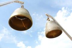 双响铃在菩萨寺庙 免版税库存照片