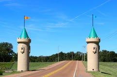 双城堡塔 免版税库存照片