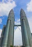 双塔在吉隆坡(马来西亚) 免版税库存照片