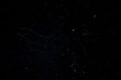 双子星座实际天空 免版税库存照片