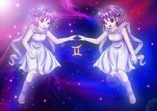 双子星座 皇族释放例证
