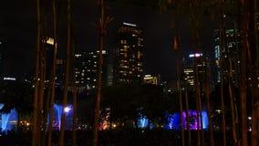 双子楼吉隆坡在晚上 免版税库存照片
