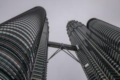 双子楼在吉隆坡,马来西亚 免版税库存照片