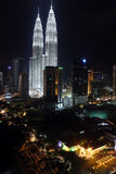 双子楼,亦称Menara天然碱是在世界的高楼从1998年到2004年 图库摄影