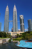 双子楼,亦称Menara天然碱是在世界的高楼从1998年到2004年 库存图片