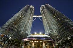 双子楼,吉隆坡,马来西亚 免版税图库摄影