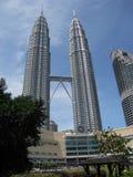 双峰塔KL马来西亚 库存照片