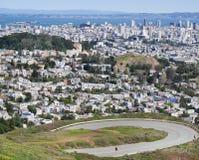 从双峰顶的旧金山 免版税库存照片