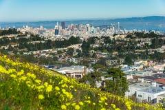 双峰顶,旧金山,加利福尼亚,美国 图库摄影