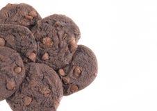 双巧克力曲奇饼 库存图片