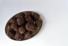 双巧克力曲奇饼 库存照片