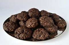 双巧克力曲奇饼 图库摄影