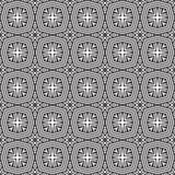 双强加的黑n白色几何线设计无缝的背景样式例证 免版税库存图片