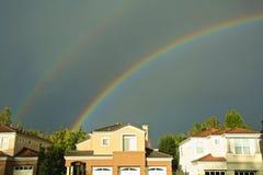 双彩虹 库存图片