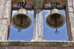 双教堂钟 库存照片