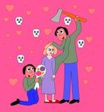 双极性障碍-家庭暴力 库存照片