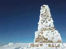 双标志felberg纪念品山顶 库存图片