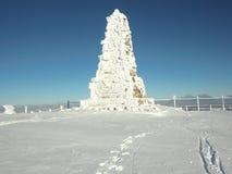 双标志felberg纪念品山顶 免版税图库摄影