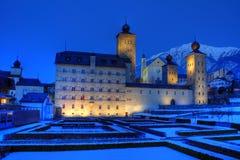 双桅船宫殿stockalper瑞士 库存照片