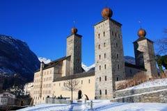 双桅船宫殿stockalper瑞士 库存图片