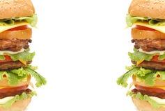 双汉堡包 库存图片