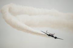 双海滩18特技飞机 免版税库存图片