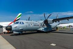 双涡轮螺旋桨发动机海上巡逻机住处C-295劝说者 免版税库存图片