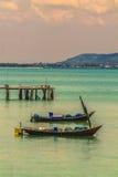 双渔船 库存照片