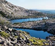 双湖在荒芜原野,加利福尼亚 免版税库存照片