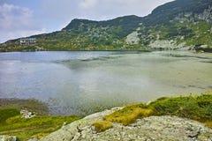 双湖的惊人的全景 库存图片