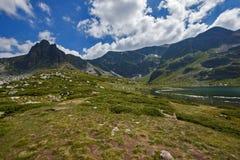 双湖,七个Rila湖,保加利亚的风景 免版税库存图片