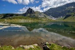 双湖,七个Rila湖,保加利亚的风景 免版税库存照片