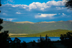 双湖Sawatch科罗拉多Mountain湖场面 库存照片