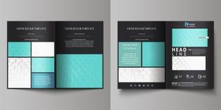 双的企业模板折叠小册子,飞行物,小册子,报告 报道设计模板,在A4大小的传染媒介布局 库存例证