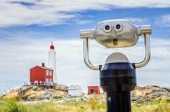 双筒望远镜在公园 免版税库存照片
