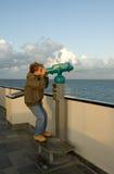 双筒望远镜开玩笑海军 免版税库存图片