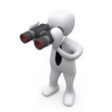 双筒望远镜查找 向量例证