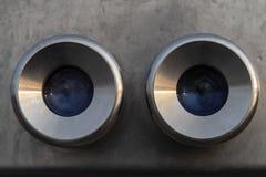 双筒望远镜特写镜头  库存照片