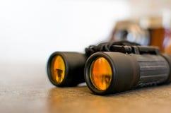 双筒望远镜特写镜头 库存图片