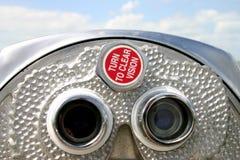 双筒望远镜硬币desoto被管理的佛罗里达堡垒 免版税库存照片