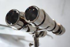 双筒望远镜装饰不锈钢 库存照片