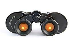双筒望远镜过滤黄色 库存照片