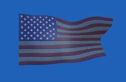 双美国旗子  免版税图库摄影