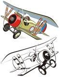 双翼飞机动画片向量 向量例证