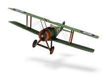 双翼飞机动画片 库存照片