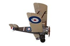 双翼飞机查出的老推进器白色 库存照片