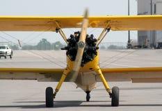 双翼飞机饰面 免版税图库摄影