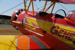 双翼飞机驾驶舱 库存图片